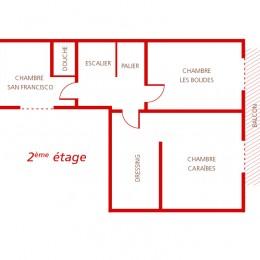 Plan du 2 ème étage